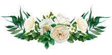 White Flowers Symmetric Bouque...
