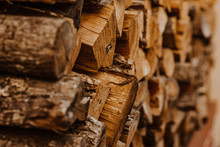 A Bunch Of Wooden Hacked Firew...