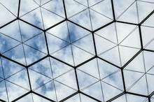 Full Frame Shot Of Patterned Glass Ceiling