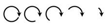 Arrow Round Icon Set.Set Of Ar...