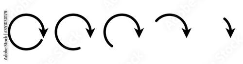 Fototapeta Arrow round icon set