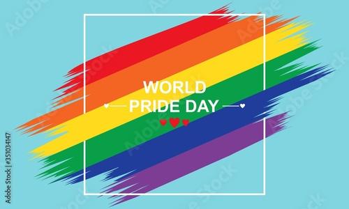 World pride day rainbow background logo vector Wallpaper Mural