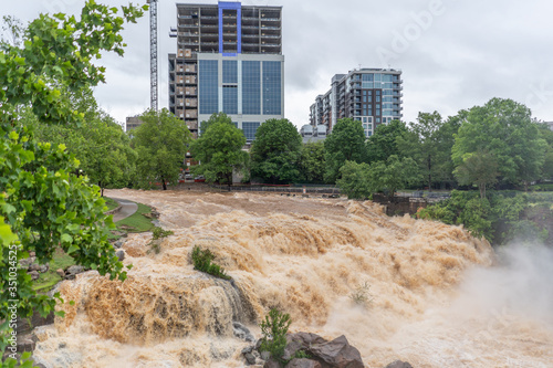 Fotomural Flood of the Reedy river in Greenville South Carolina