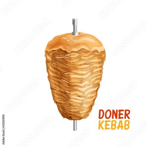 Doner Kebab on pole - fototapety na wymiar