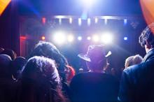 Rear View Of People In Nightclub