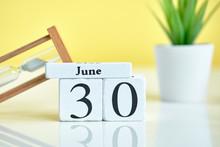 30 Thirtieth Day June Month Ca...