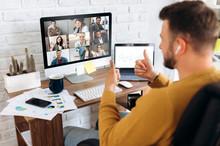Video Conference. Business Par...