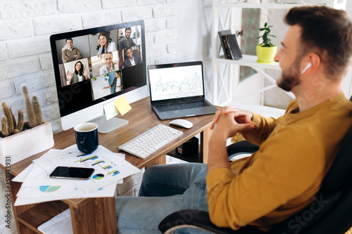 Fotografiet Communication by video conference