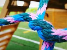 Close-up Of Cargo Net At Playground