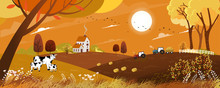 Vector Autumn Landscape With S...