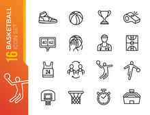Basketball Icons. Included The...