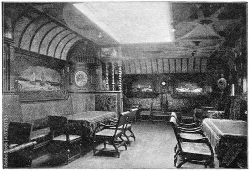 Fotografia Salon of a German transatlantic ocean liner SS Kaiser Wilhelm der Grosse