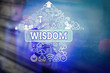 Writing note showing Wisdom. Business concept for quality having experience knowledge and good judgement something