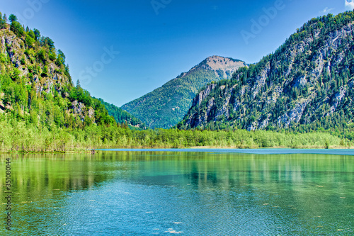lake and mountains, Almsee Grünau / Austria Wallpaper Mural