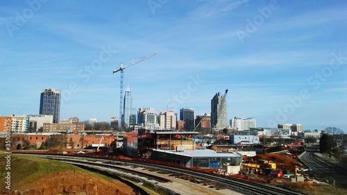 Fototapeta View Of Cityscape Against Blue Sky obraz na płótnie