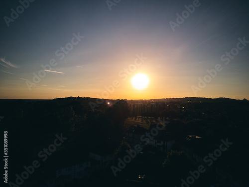 Fotografie, Obraz Silhouette Landscape Against Sky During Sunset