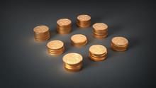 Golden Dollar Tokens Tower For...