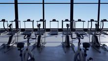 Empty Gym Interior Opens At Su...