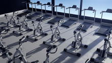 Empty Gym Interior Opens At Su...