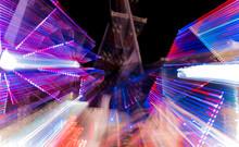Blurred Motion Of Illuminated ...