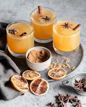 Three Glasses Of An Orange Spi...