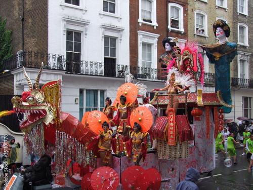 People During Parade At Notting Hill Carnival Fototapeta