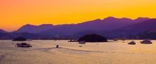 Scenic Sunset Over Sea Bay