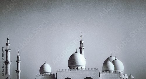 Stampa su Tela Mosque And Minarets