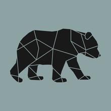 Linear Illustration Of A Bear