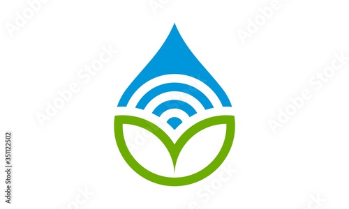 water drop logo Fotobehang