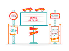 Grand Opening Vintage Vector A...