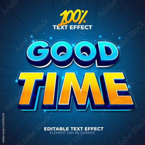 Stampa su Tela Good Time text effect