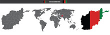 Vector Map Flag Of Afghanistan...