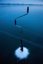 Winter Fishing On The Ice Of L...