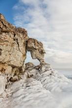 Stone Elephant On Baikal. Sagan Hushun