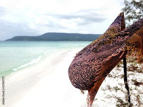 Windswept Clothing On Beach Slika na platnu