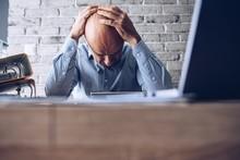 Nervous Upset Man With Financi...