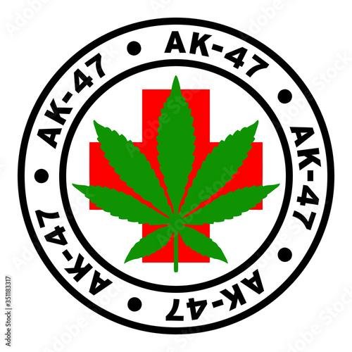 Photo Round AK-47 Medical Marijuana Strain Clipart