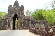 South Gate Of Angkor Thom At A...