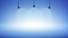 Spot Light Blue Empty Space Ba...