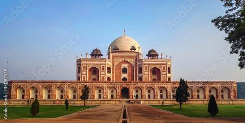 Fotografie, Obraz Humayun's Tomb beautiful old Mughal architecture  monument in Delhi India