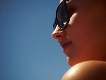 Face Portrait Of A Girl In Sun...