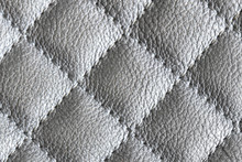 Quilted Silver Leather Backgro...