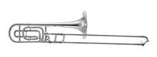 Nickel Trombone Music Instrume...
