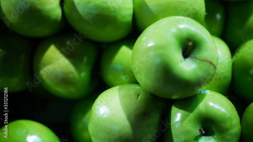 Tableau sur Toile Full Frame Shot Of Granny Smith Apples