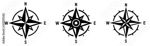 Fototapeta Compass set. Wind rose symbol. Vector obraz