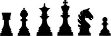 Chess Board Pieces Vector. Iso...