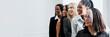 canvas print picture - Diverse confident businesswomen standing together
