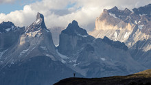 Huge Mountains Panorama In Blu...