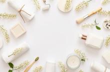 Stylish White Spa Concept. Flo...